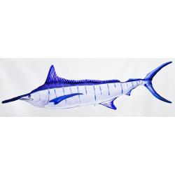 Gaby Blauer Marlin Kissen, ca. 115 cm lang