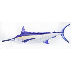 Gaby Blauer Marlin aufgeleuchtet Kissen, ca. 115 cm lang