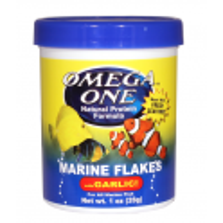 Omega Sea Marine Flakes mit Knoblauch 28 g (1oz)