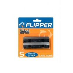 Flipper Standard Edelstahl-Ersatzklingen für Glas, 2 Stück